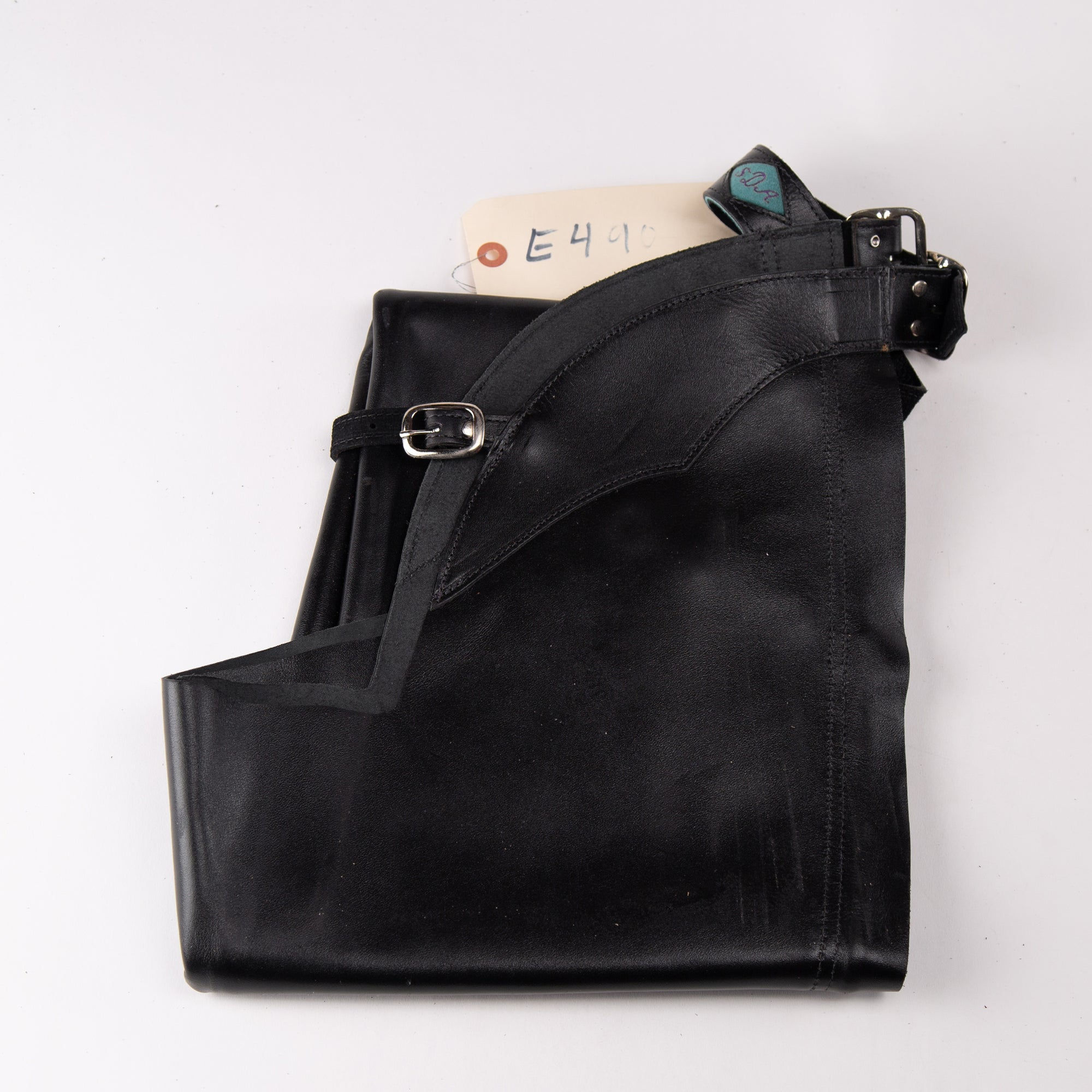English Schooling Chaps - Black Top Grain Leather - (SDA) Monogram