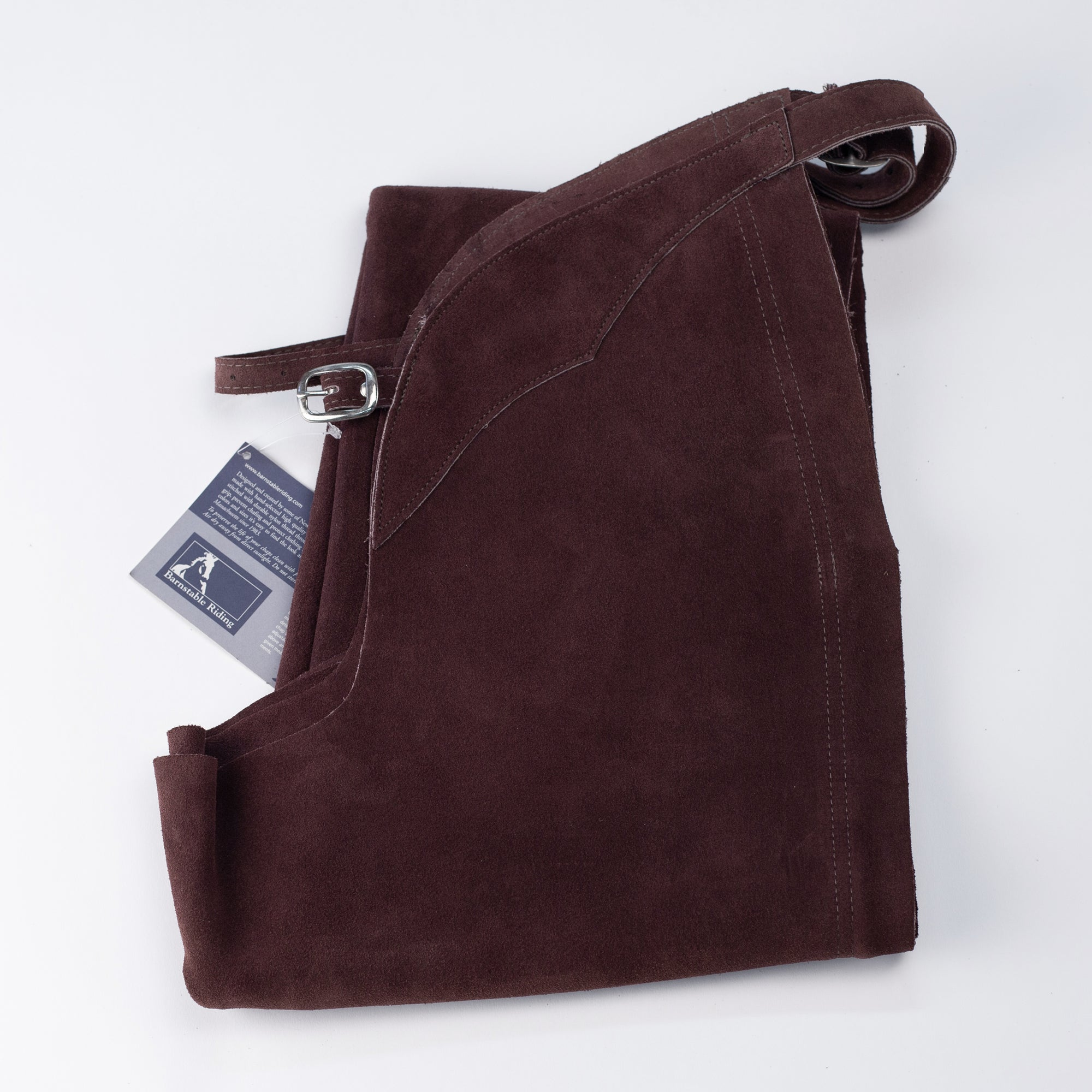 English Schooling Chaps - Burgundy Suede