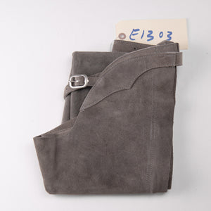 English Schooling Chaps - Grey Suede
