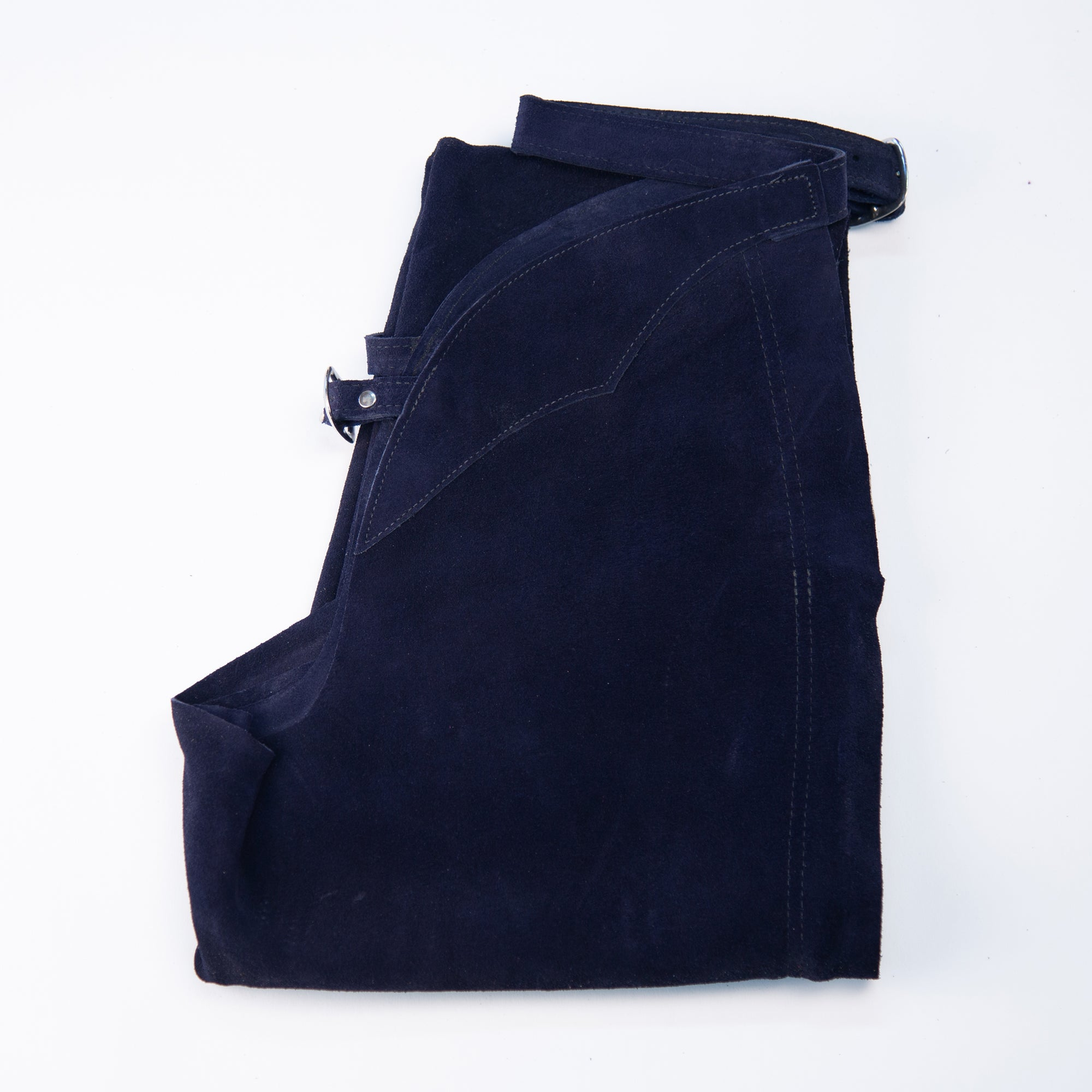 English Schooling Chaps - Navy Suede