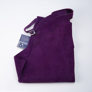 English Schooling Chaps - Purple Suede
