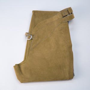 English Schooling Chaps - Taupe Suede