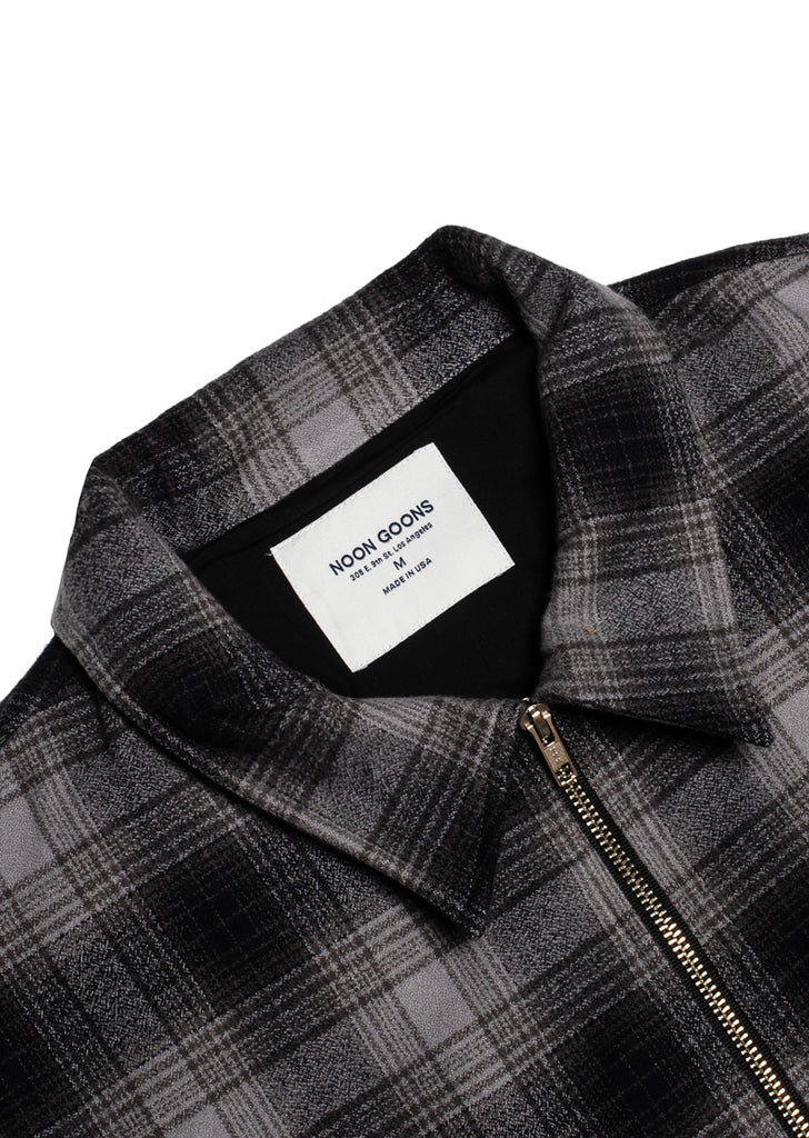 Anderson Flannel Jacket - Charcoal