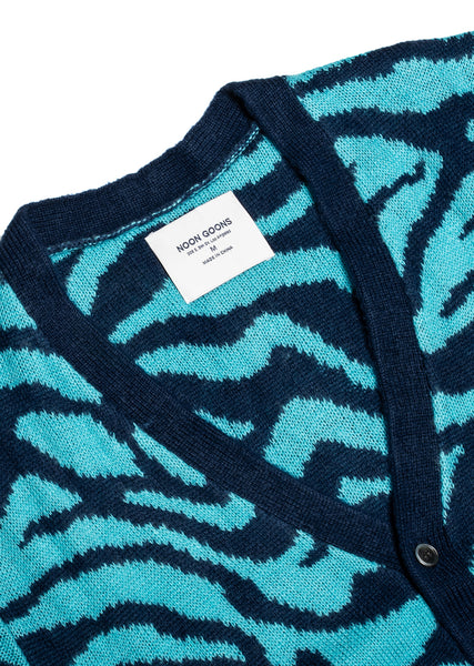 Tiger Cardigan - Navy/Blue