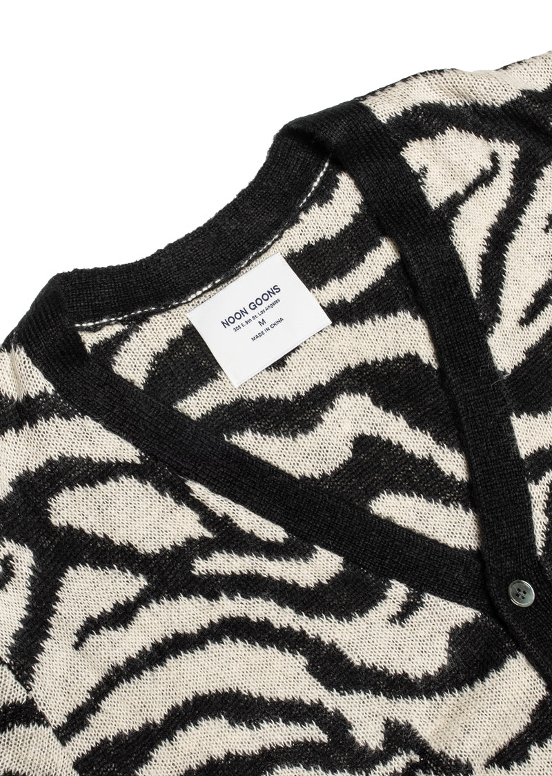 Tiger Cardigan - Black/White