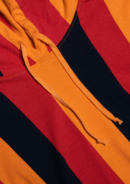 Typeo Stripe Hoodie - Navy/Orange/Red