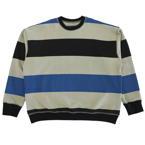 Big Stripe Icon Sweatshirt - Black/Blue/Sand