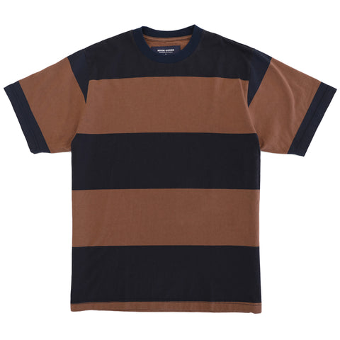 Big Stripe T - Navy/ Brown
