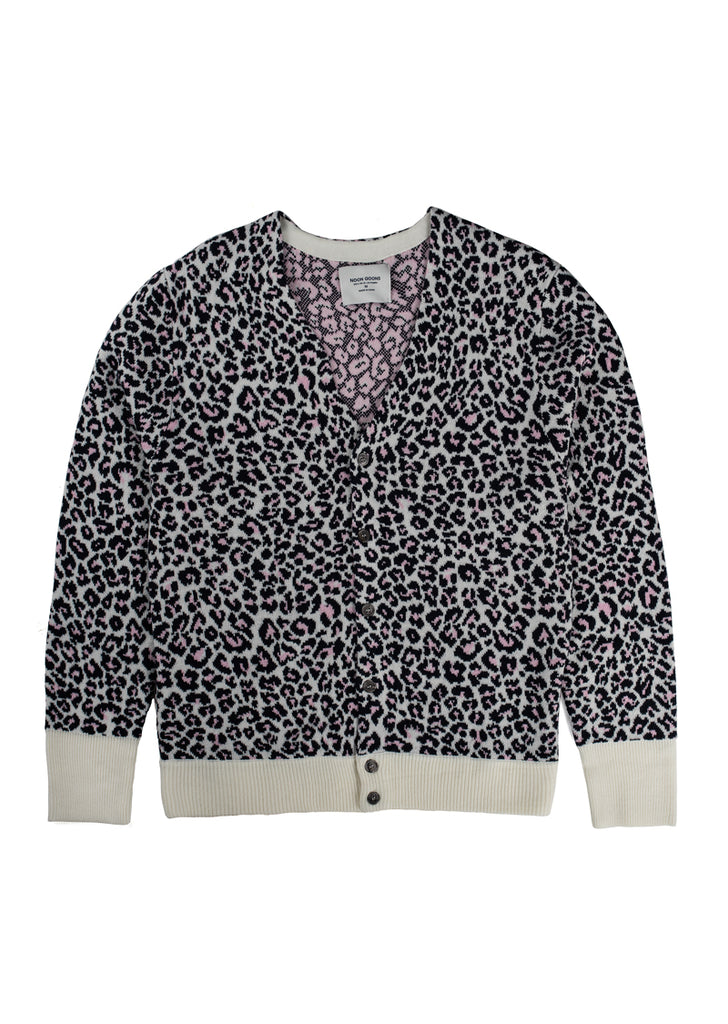 Chatterbox Cardigan - Pink Leopard