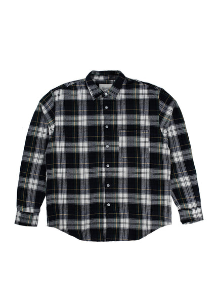 Sect Flannel Shirt - Navy/White