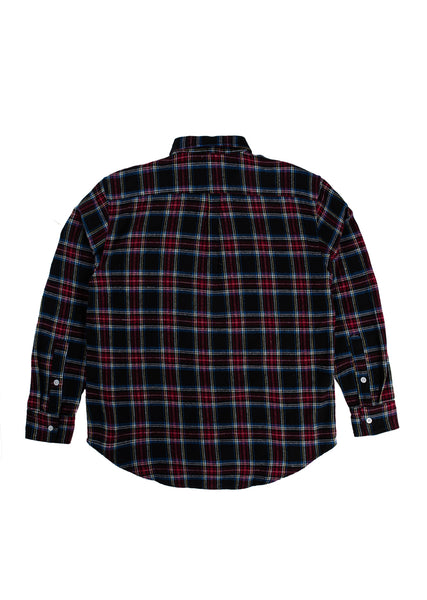 Sect Flannel Shirt - Burgundy/Black