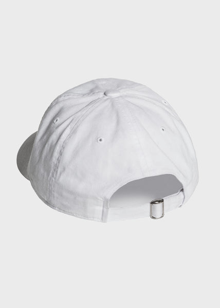 Simple Hat White/Orange