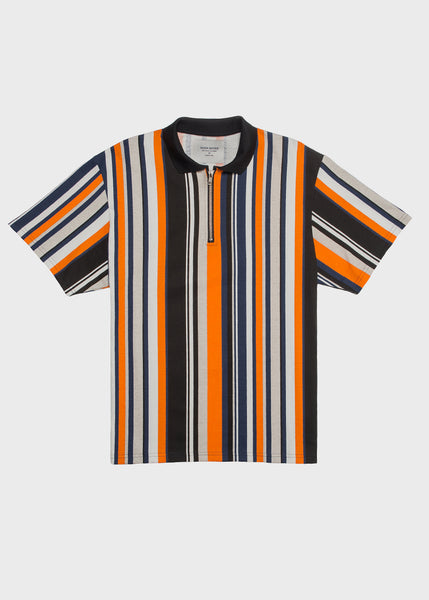 Stripe Zip Polo
