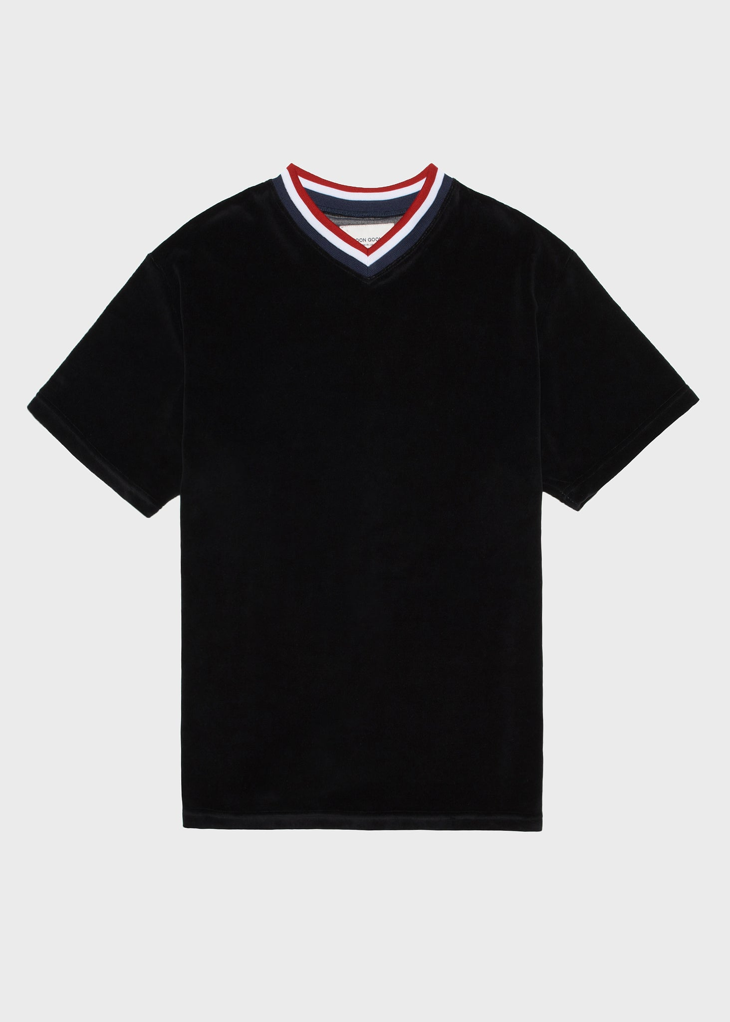 Noel Velour V Neck - Black