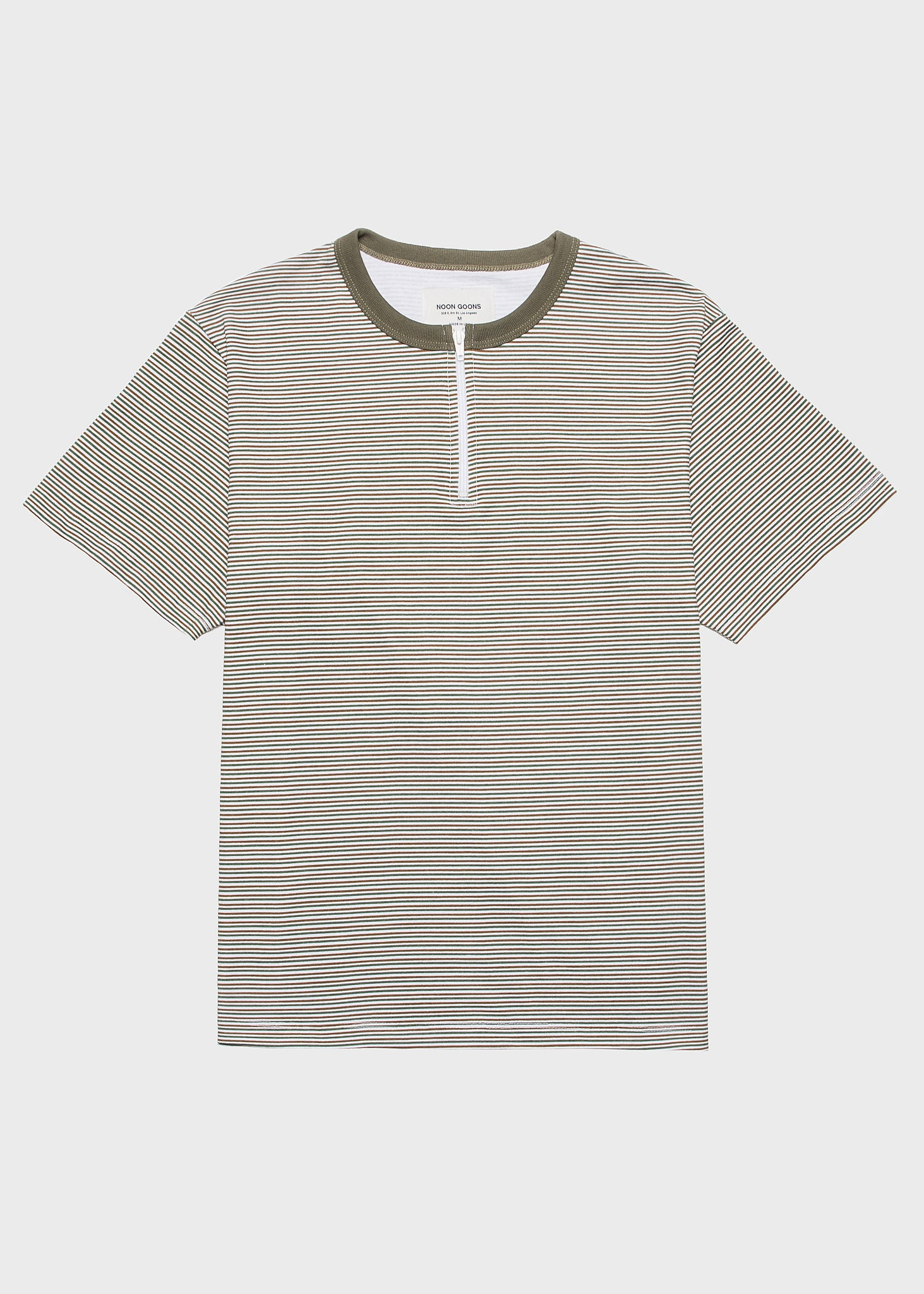 Surfer Zip T-Shirt Pale Yellow