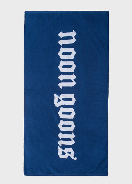 Old English Beach Towel Blue