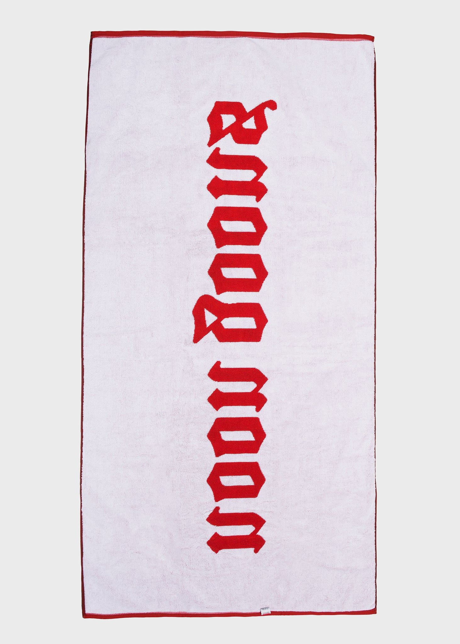 Old English Beach Towel Red