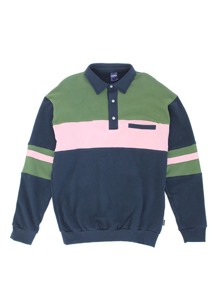 Summer Polo - Navy/Pink/Green