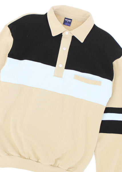 Summer Polo - Black/Khaki/Blue