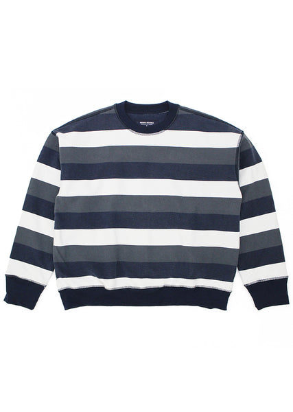 Stripe Icon Sweatshirt - Navy/White/Grey