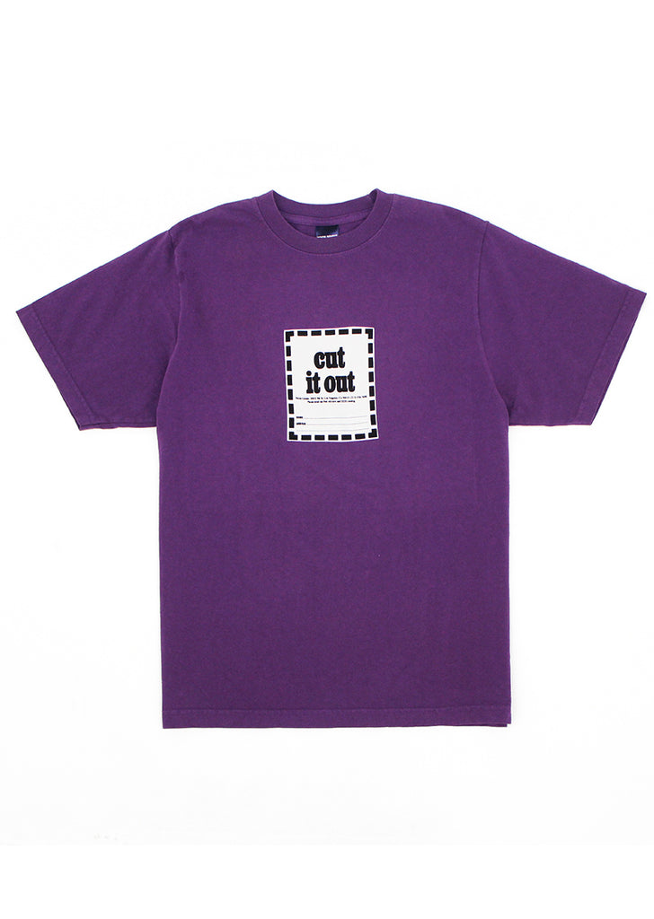Cut It Out T - Purple