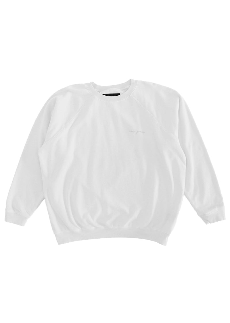 Summer Raglan Sweater - Bone White