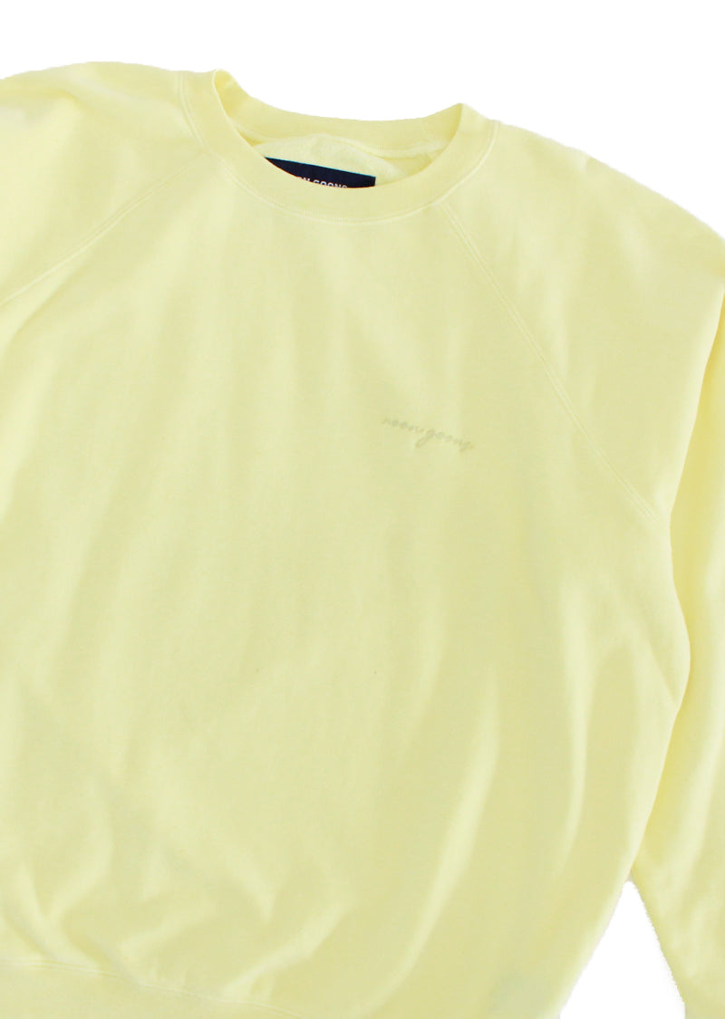 Summer Raglan Sweater - Pale Yellow