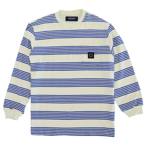 Mumma L/S T - Pale Yellow/ Royal