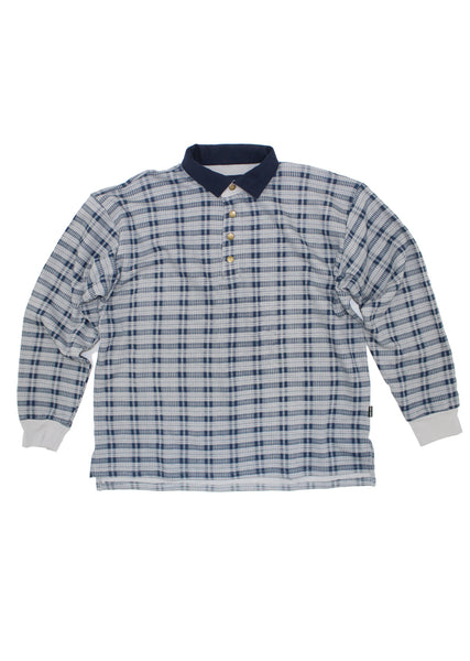 Shadow Plaid Pullover - Navy