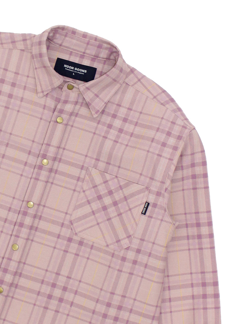 Snap Denim Shirt - Pink