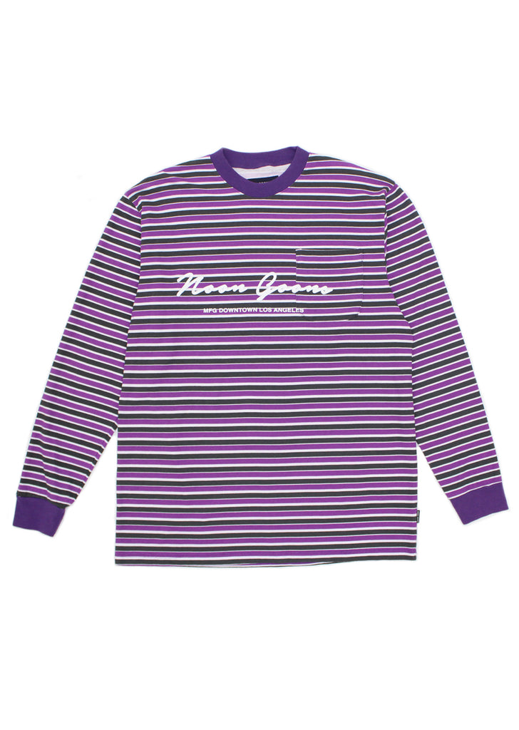 Patricia L/S T-shirt - Purple/White/Black