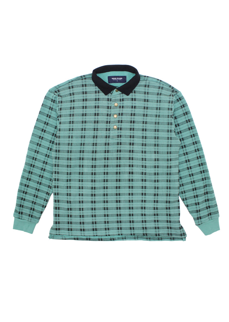 Shadow Plaid Pullover - Green