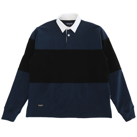 Tri Rugby Polo - Navy/Black