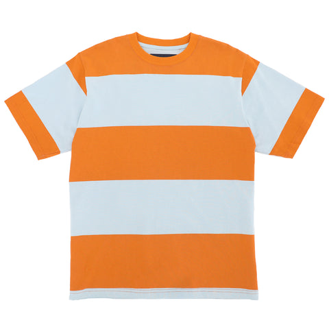 Big Stripe T - Orange/ Baby Blue