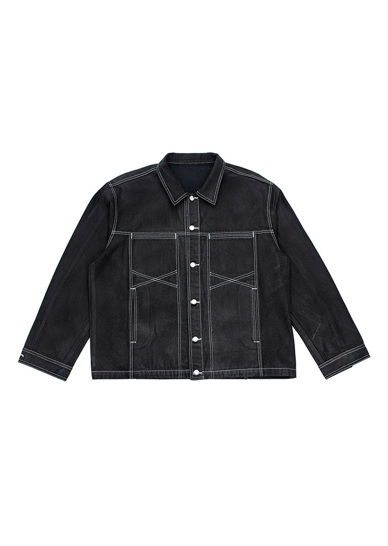 Mine Denim Jacket - Black