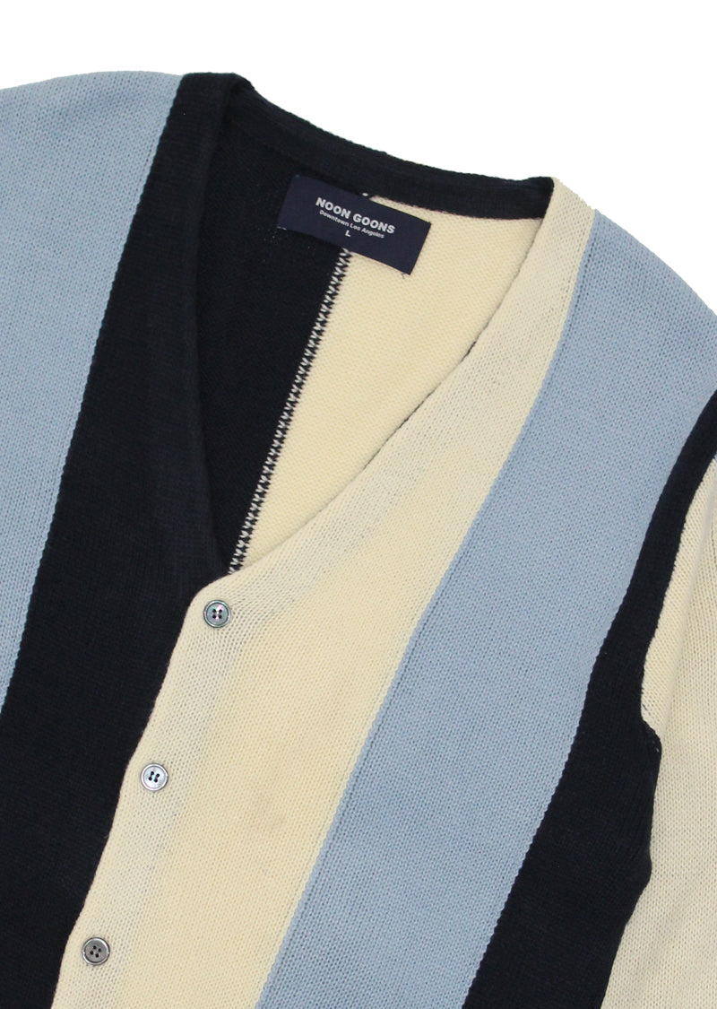 The Droogs Cardigan - Navy/Blue/Cream
