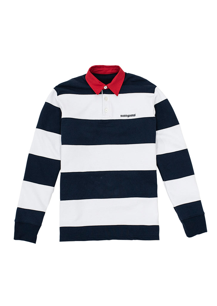 Fielders Fleece Rugby - Navy/White
