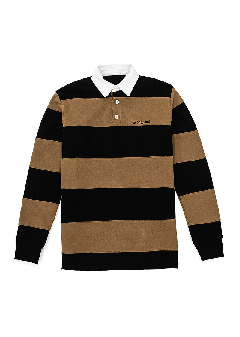 Fielders Fleece Rugby - Black/Brown