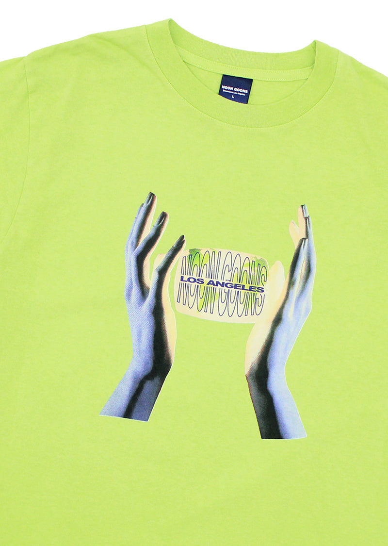 Safe Hands T - Bright Green