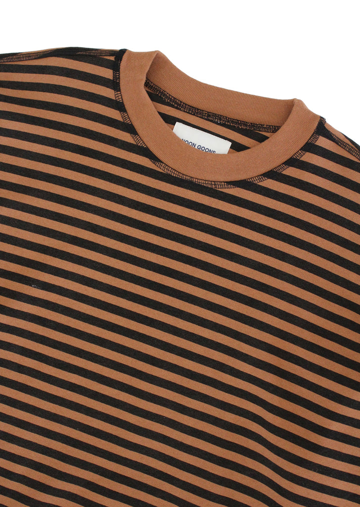 Lefty Stripe Sweatshirt - Black/Brown
