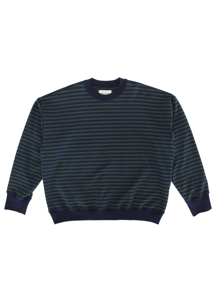 Lefty Stripe Sweatshirt - Navy/Forest