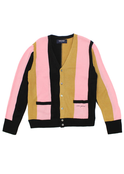 The Droogs Cardigan - Black/Camel/Pink