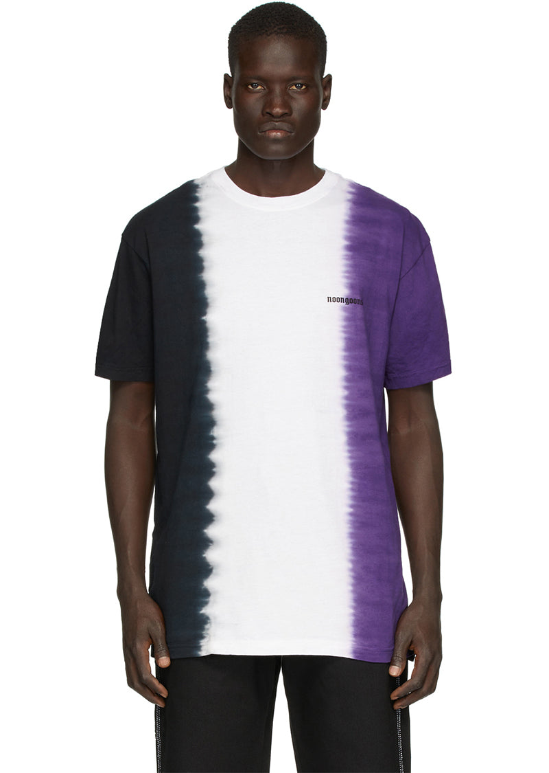 Jah Dye T-Shirt - Black/White/Purple
