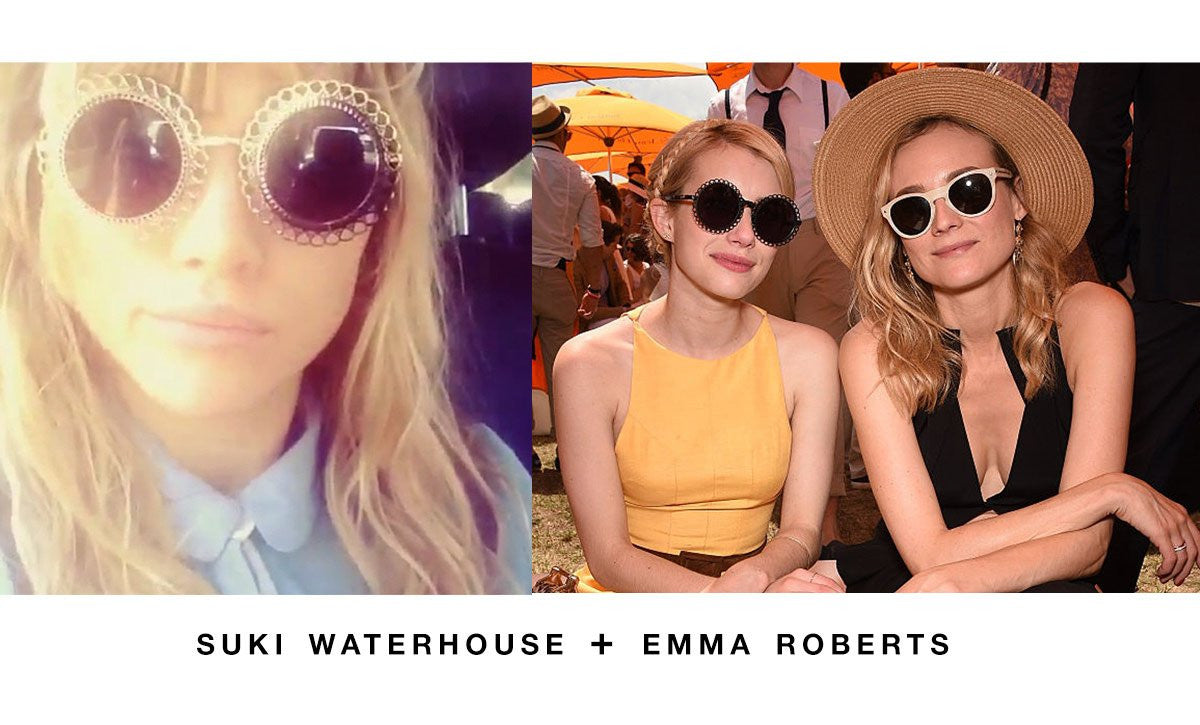 Suki Waterhouse and Emma Roberts in Preen