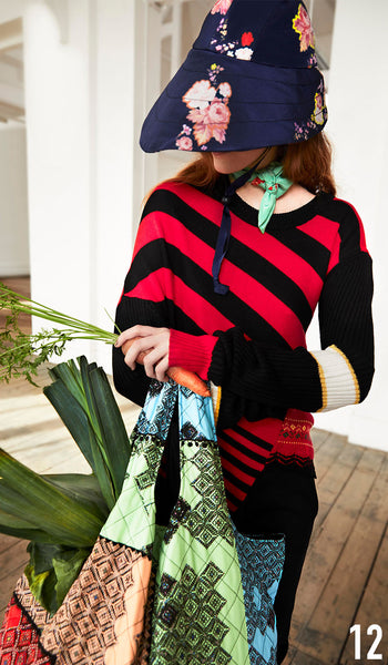 PREEN LINE PRE FALL 19 LOOK 12 Aisling Knit and Ziva Hat.