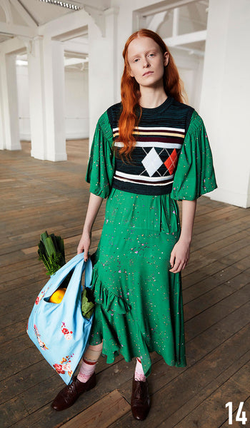 PREEN LINE PRE FALL 19 LOOK 14 Camilla Dress and Clara Tank.