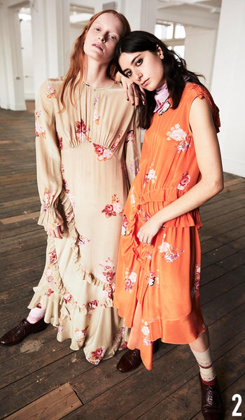 PREEN LINE PRE FALL 19 LOOK 2 Gabriella Dress and Antoinette Dress