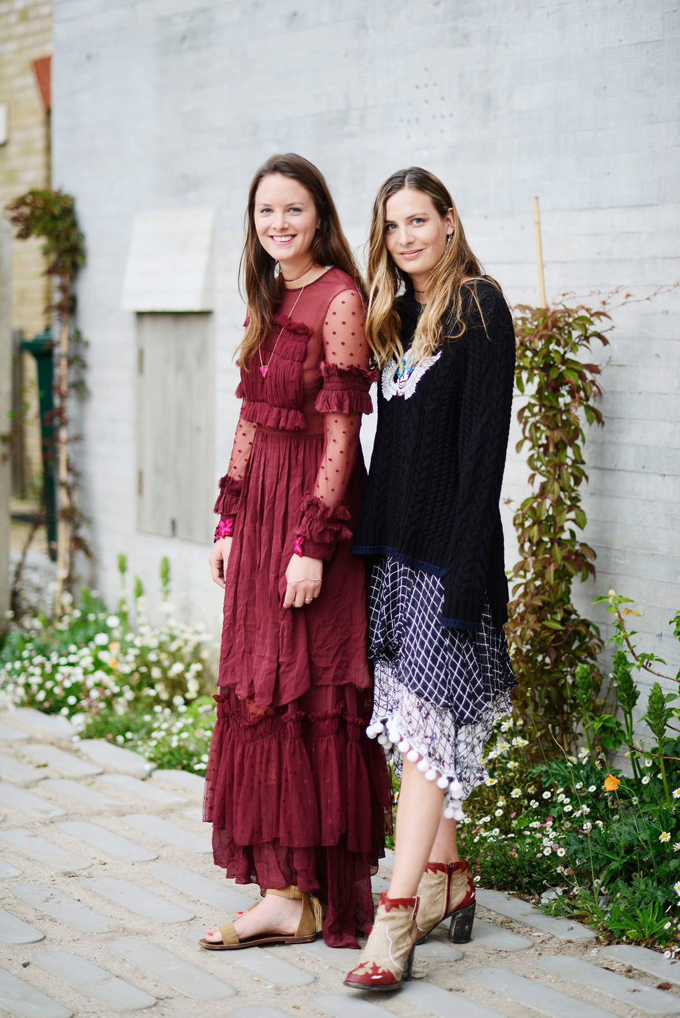 Tansy and Tor wearing Preen Line