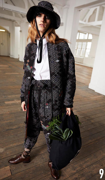 PREEN LINE PRE FALL 19 LOOK 9 Colette Shirt, Anais Coat and Lily Trouser.