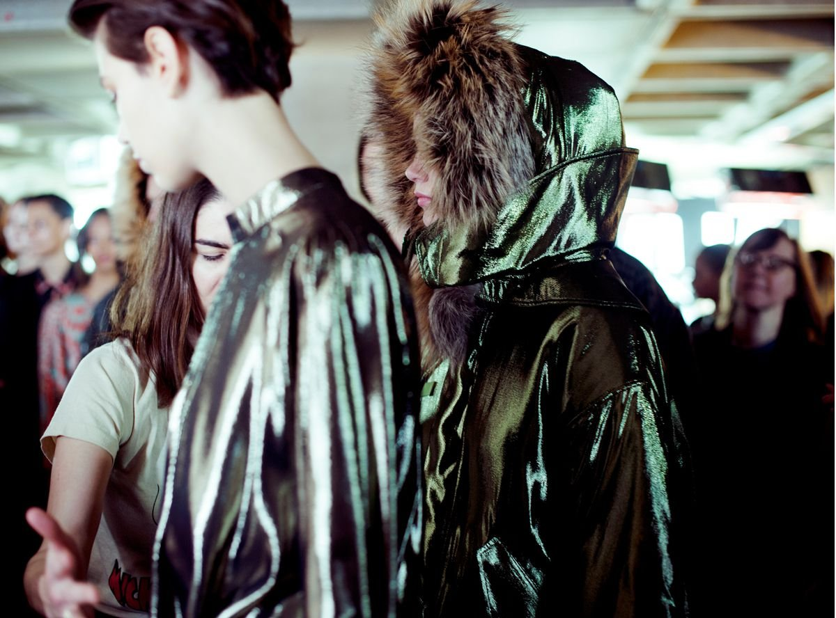 Behind the scenes Preen AW14